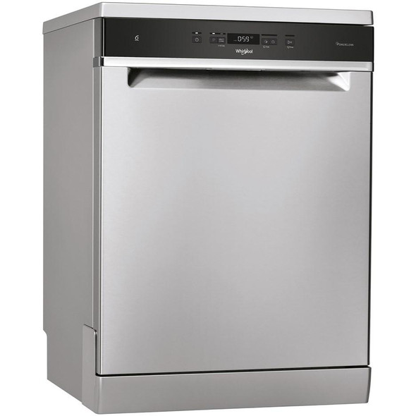 Whirlpool, WFC3C33PFXUK, 14 Place Stainless Steel Freestanding Dishwasher, Inox