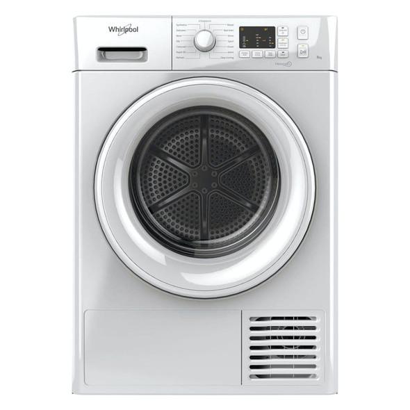 Whirlpool, FTCM108BUK, Freestanding 8kg Condenser Tumble Dryer, White
