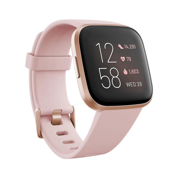 Fitbit, Fb507rgpk, Versa 2 Health & Fitness Smart Watch, Petal/Copper Rose