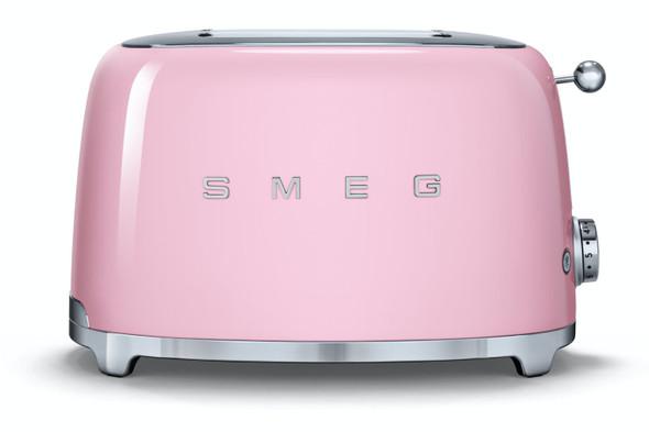 Smeg, Tsf01pkuk, 50's Retro Style Aesthetic 2 Slice Toaster, Pink