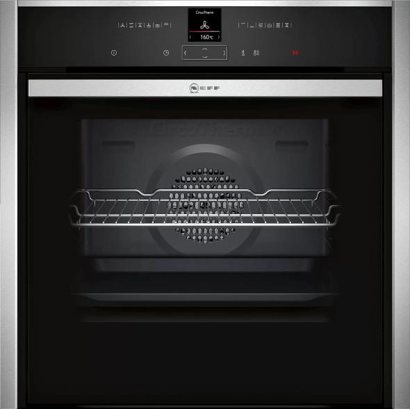 Neff, B57CR22N0B, Single Oven - Slide & Hide Door, Stainless Steel