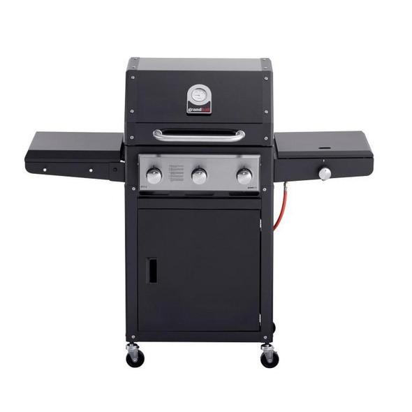 Grandhall, K03000263A, Xenon 3 Black Gas Barbecue, Black