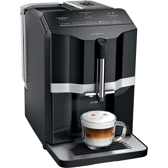 Siemens, TI351209GB, Eq300 Bean To Cup Automatic Coffee Machine, Black