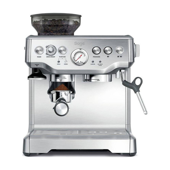 Sage, BES875UK, Barista Express Coffee Machine, Silver
