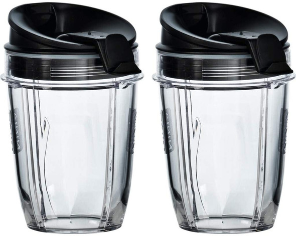 Ninja, XSK302UK, Cups With Sip & Seal Lids (2 X 300ml), Clear