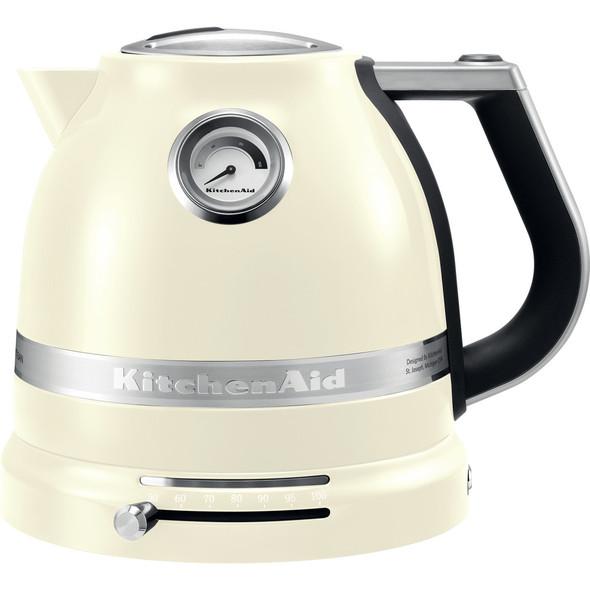 KitchenAid  5KEK1522BAC Artisan Kettle Almond Cream 1.5l, Cream