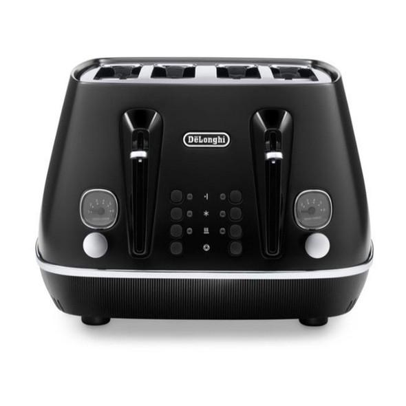 Delonghi, CTIN4003.BK, De'longhi Distinta X 4 Slice Toaster, Black