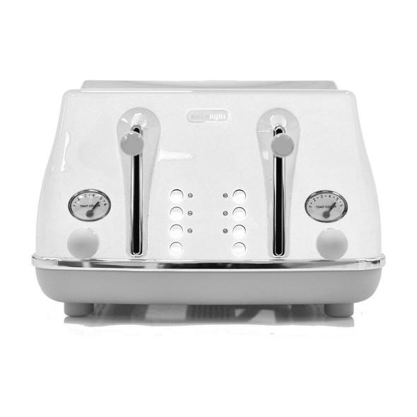 Delonghi, CTOC4003W, Icona Capitals 4 Slice Toaster, White