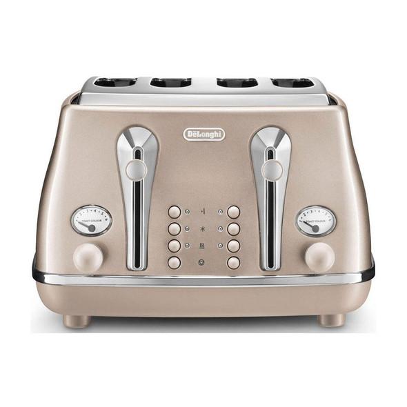 Delonghi, CTOT4003.BG, Icona Metallics Toaster Ctot4003bg, Beige