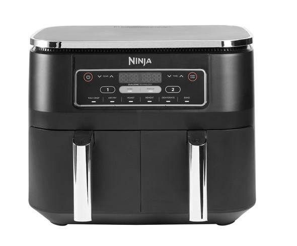 Ninja, AF300UK, Foodi Dual Zone Air Fryer, Black