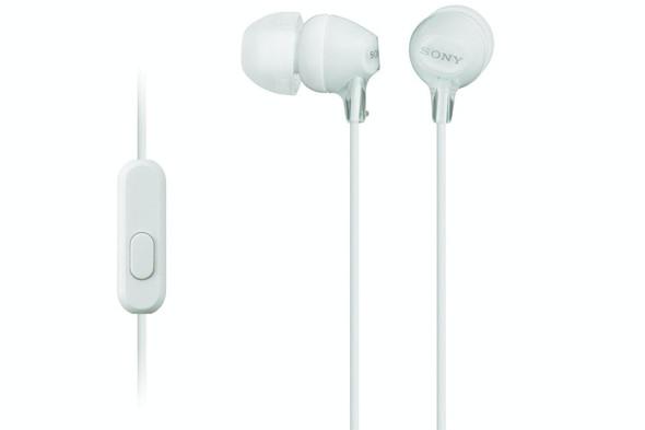 Sony, MDREX15APWCE7, In Ear Smartphone Earphones, White