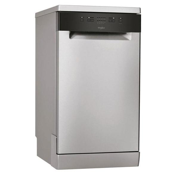 Whirlpool, WSFE2B19XUK, 45cm Slimline Dishwasher, Grey