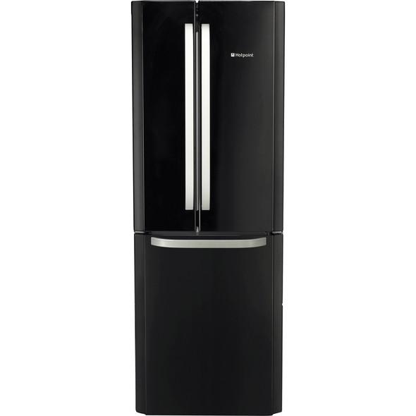 Hotpoint, FFU3DK, 70cm Frost Free 3 Door Fridge Freezer, Black