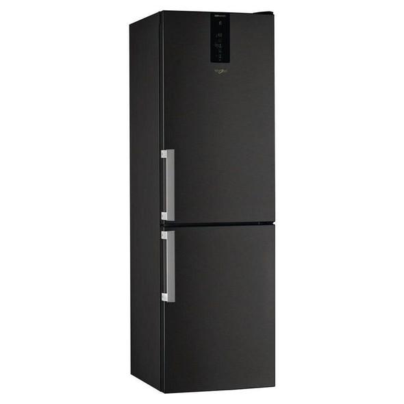 Whirlpool, W9821DKSH, Black Freestanding Fridge Freezer, Black