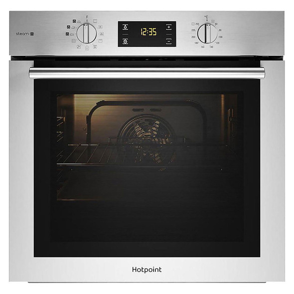 Hotpoint, FA4S544IXH, Single Oven With Steam Cooking, Silver