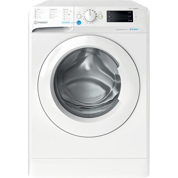 Indesit, BWE101683XW, 10kg 1600 Spin Washing Machine, White