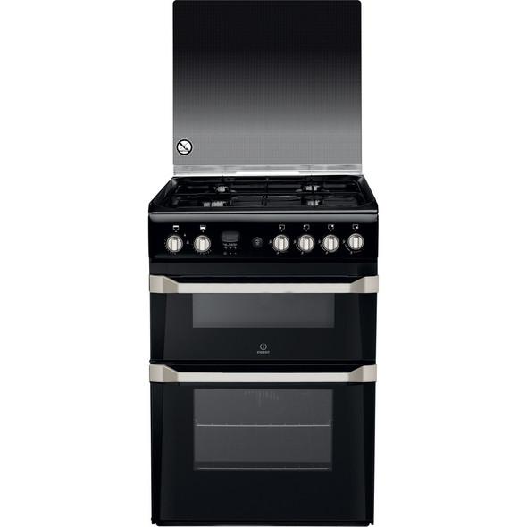 Indesit, ID60G2K, 60cm Gas Cooker, Black