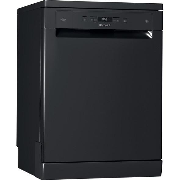 Hotpoint, HFC3C26WC B, Freestanding Dishwasher, Black