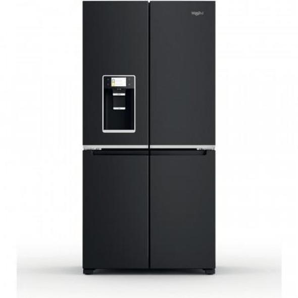 Whirlpool, WQ9IFO1BXUK, 655L Side by Side American Fridge Freezer, Black