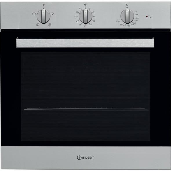 Indesit, IFW6330IX, Single Oven, Silver