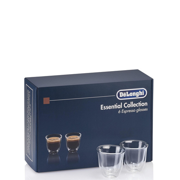 Delonghi, DLKC300, Espresso Glasses Collection, Clear