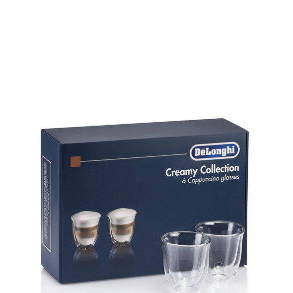 Delonghi, DLKC301, Cappuccino Glasses Collection, Clear
