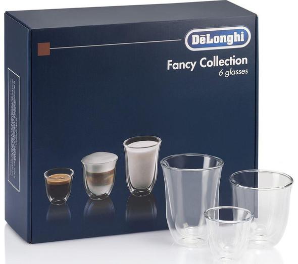 Delonghi, DLKC302, Coffee Glasses Set, Clear