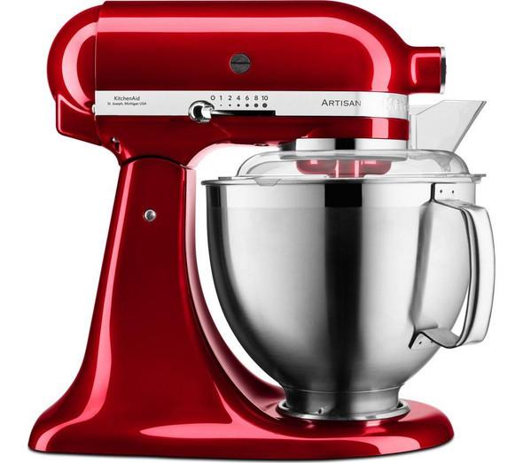 KitchenAid, 5KSM185PSBCA, Artisan 4.8L Stand Mixer, Red