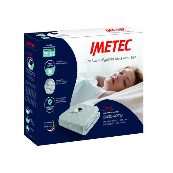 Imetec, 16731, Adapto Double 150x120 150W Six Heat Set, White