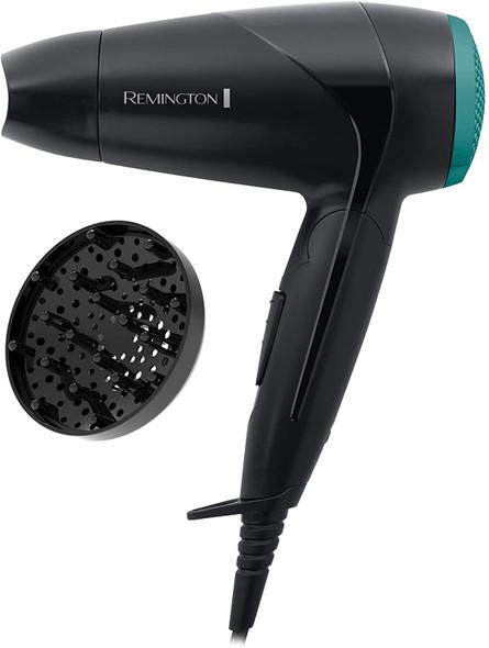 Remington, D1500, 2000W Travel Hair Dryer, Black