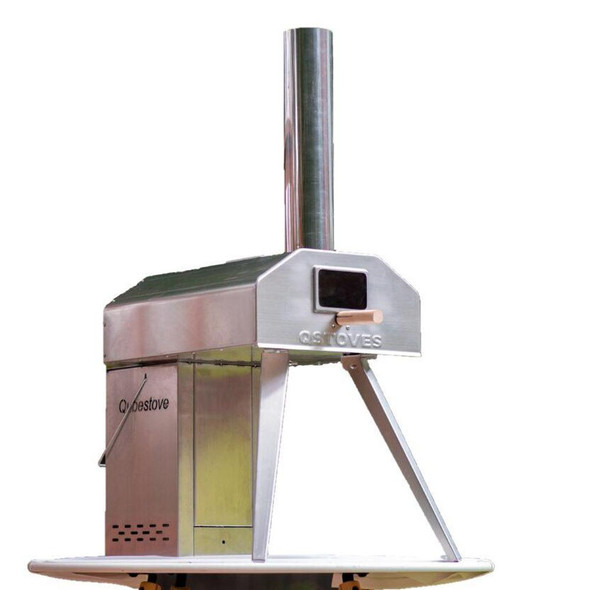 Qubestove, 007159, Rotating Pizza Oven And Stove In Oven, Stainless Steel