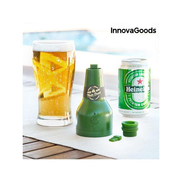 InnovaGoods, 812577, Master Brewer Ultrasonic Beer Foamer, Green