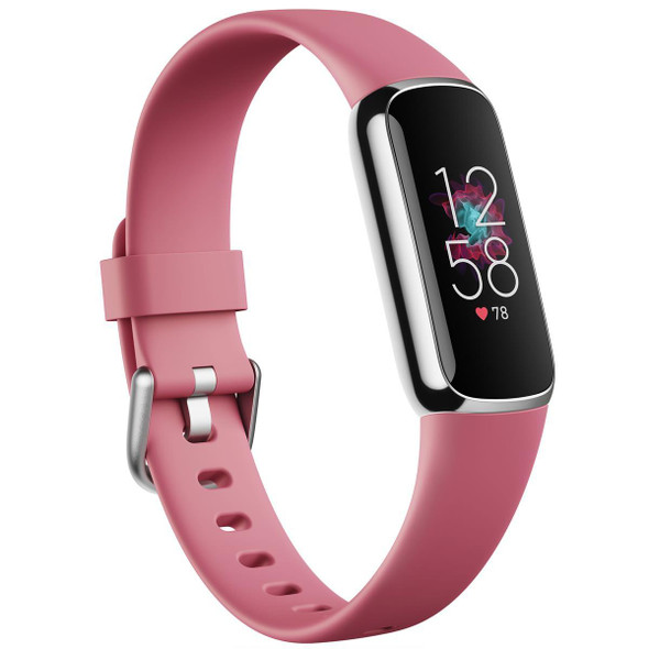Fitbit, FB422SRMG, Luxe Fitness and Wellness Smartwatch, Pink