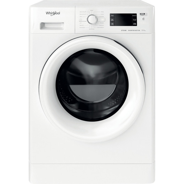 Whirlpool, FWDG86148WUK, FreshCare+ 8kg Wash 6kg Dry Washer Dryer, White