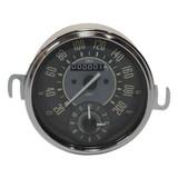 VINTAGE SERIES SPEEDOMETER & CLOCK COMBO GAUGE - KM