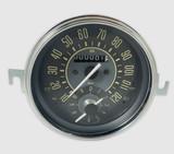 MPH SPEEDOMETER & CLOCK COMBO GAUGE - BEIGE