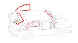 Fastback Window Rubber Kit - Cal-Look Style; 4 Seals