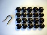 19mm BLACK LUG NUT COVERS