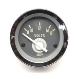 STOCK SERIES VOLT METER GAUGE - WHITE NEEDLE