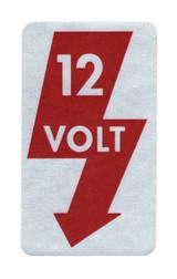 12 Volt Sticker