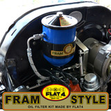 FLAT-4 FRAM F3-P STYLE OIL FILTER SYSTEM