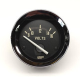 STOCK SERIES VOLT METER GAUGE - BLACK