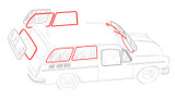 Squareback Window Rubber Kit - Cal-Look Style; 6 Seals