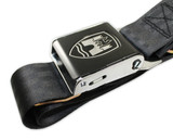 2-Point Bus Seat Belt with Black Buckle - Tan