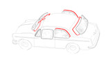 Notchback Window Rubber Kit Cal-Look Style - 4 Seals