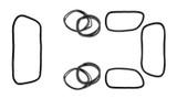 Squareback Window Rubber Kit - American Style; 8 Seals