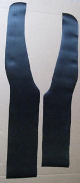 SEAT PEDESTAL WRAP-AROUND MATS, fits 1963-1967 Bus walk-thru models, black w/sawtooth profile as original - PAIR