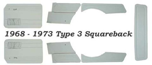 Squareback 68-73 STD 9pc Panel Set With Pockets