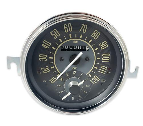VINTAGE SERIES SPEEDOMETER & CLOCK COMBO GAUGE - MPH