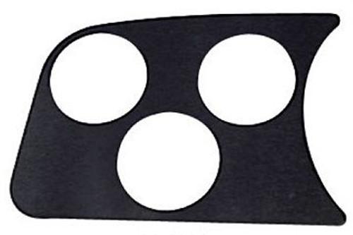 BLACK ACCESSORY GAUGE PANEL TRIPLE 52MM LEFT